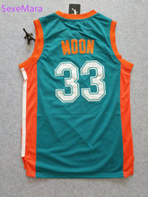 Semi Pro Flint Tropics Jersey Mens 33 Jackie Moon Basketball Jerseys Stitched Green S-XXL Free Shipping