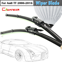 Cawanerl 1Pair Car Soft Rubber Rain Snow Window Wiper Blade Windshield For Audi TT 2006-2016 Easy Insulation !