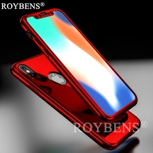 Buy Roybens iPhone X Mirror 360 Case Front Back Full Protection Temper Glass iPhone X Case Ultra Thin Bling Luxury Cover for $3.99 in AliExpress store