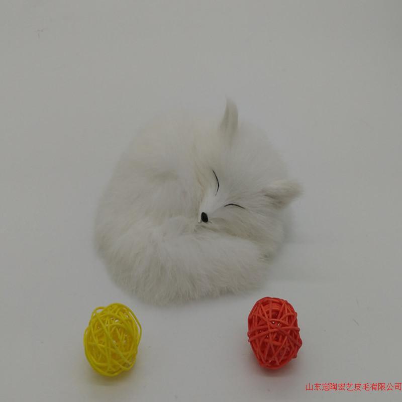white simulation fox toy polyethylene &amp; furs sleeping fox model about 14x5cm 073<br><br>Aliexpress