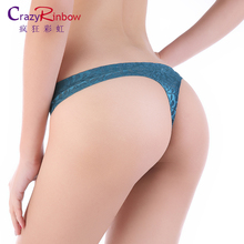 Hot sale Original New Ultra-thin Women Seamless lace G-String T-back Traceless Sexy lingerie Underwear Panties Briefs