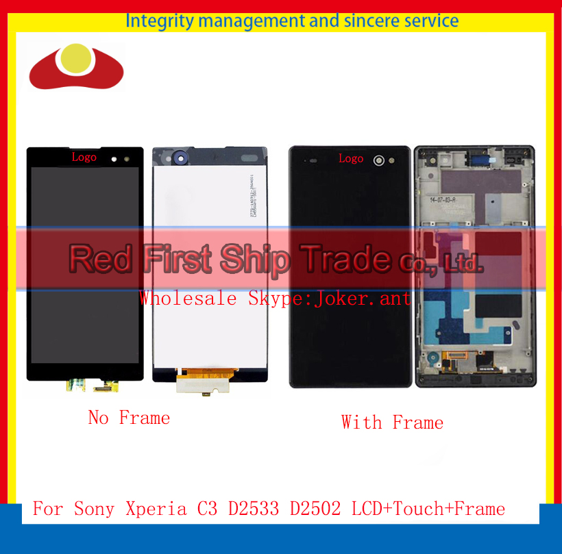 5.5 For Sony Xperia C3 D2533 D2502 S55U S55T Full LCD Display Touch Screen Digitizer Sensor Lens Panel Assembly Complete+Frame<br><br>Aliexpress