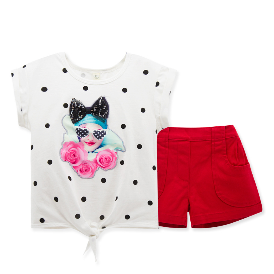 2016 Korean fashion summer cute baby clothing two piece kids shorts sets cotton T-shirt infant clothing shorts pant<br><br>Aliexpress