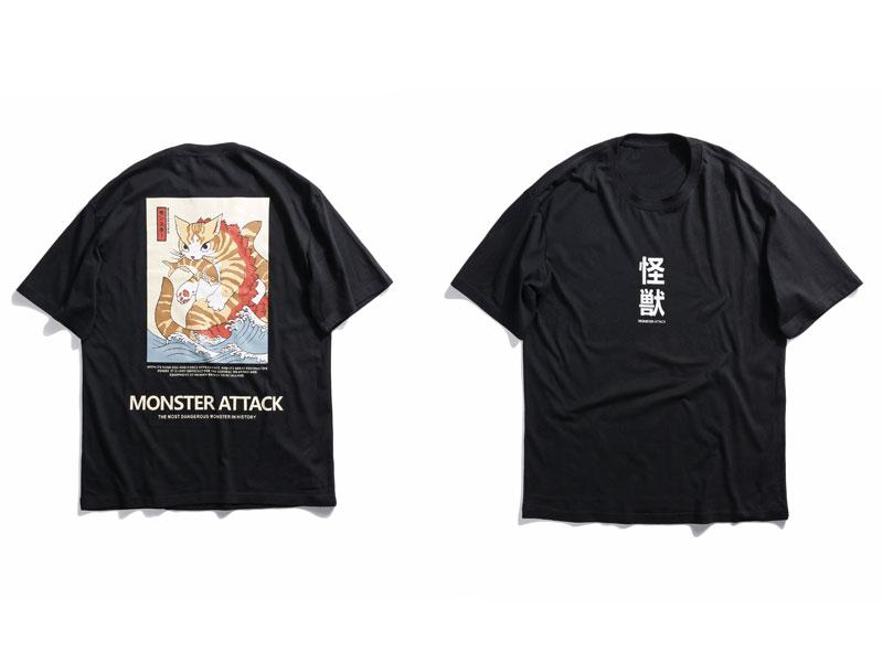 Japanese Ukiyo Cat Tshirts 1