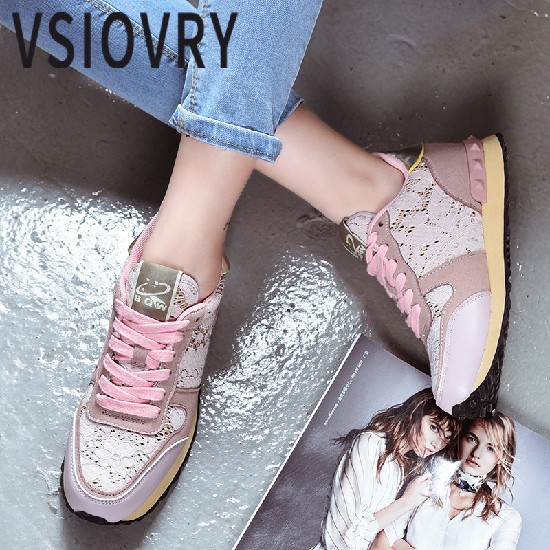 VSIOVRY 2018 New Women Running Shoes Outdoor Walking Jogging Sneakers Women Lace Breathable Soft Sport Shoes Spring Summer