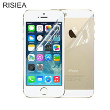5pcs Front+5pcs Back RISIEA New Matte Anti Glare Screen Protector Film Guard For iPhone 4 4S 5 5S SE 6 6S plus 7 8 plus x(China)