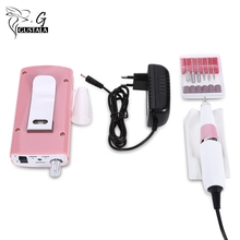 Gustala Rechargeable 18W 30000RPM Electric Nail Drill Machine Acrylic Nail File Drill Manicure Pedicure Kit Nail Art Equipment(China)