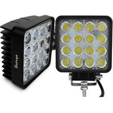 Safego 2X 4 Inch 48W LED Work Light lamp Indicators worklight working Driving Offroad For Boat Tractor Truck 4x4 12V spot flood(China)