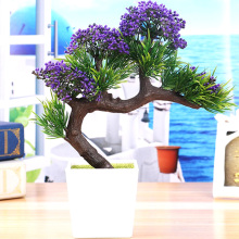 2017 New arrival Big Sale Artificial plants tree flower bonsai fake flowers plant pine trees Komatsu flower vase free shipping
