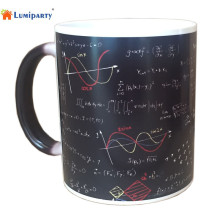 LumiParty Automatic self Color Changing mug Cup Mathematical Formulas Print Coffee Mug Heat Reveal Ceramic Water Magic Mug