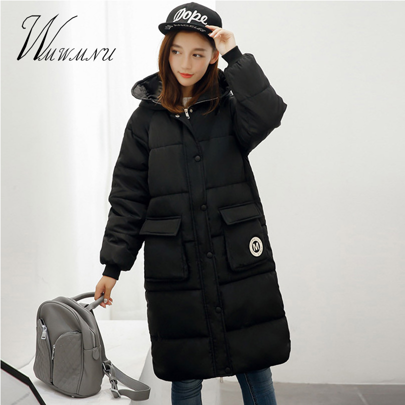 Wmwmnu Women Parkas Cotton 2017 Casual Warm Long Sleeve Ladies Basic Coat Jacket Hooded Women Winter Jackets Ladies OutwearÎäåæäà è àêñåññóàðû<br><br>