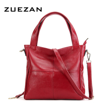32* 29*12cm, Large Tote, Women Genuine Leather Shoulder Bag, 100% Natural Cowhide Cross-body Bags A020