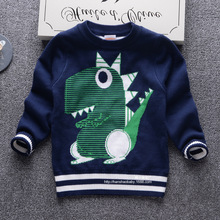 2016 autumn and winter new fashion brand children sweater high-quality cotton double-layer leisure sweater o-collar kids tops