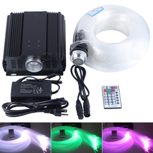 DMX 45W RGB 28key remote LED fiber optic light kit star sky ceiling 835 strands 5m long 0.75mm+1.0mm+1.5mm(China)