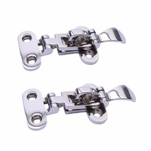"2Pcs Marine Boat Stainless Steel 316 Locker Hatch Adjustable Latch Clamp-4 3/8""(China)"