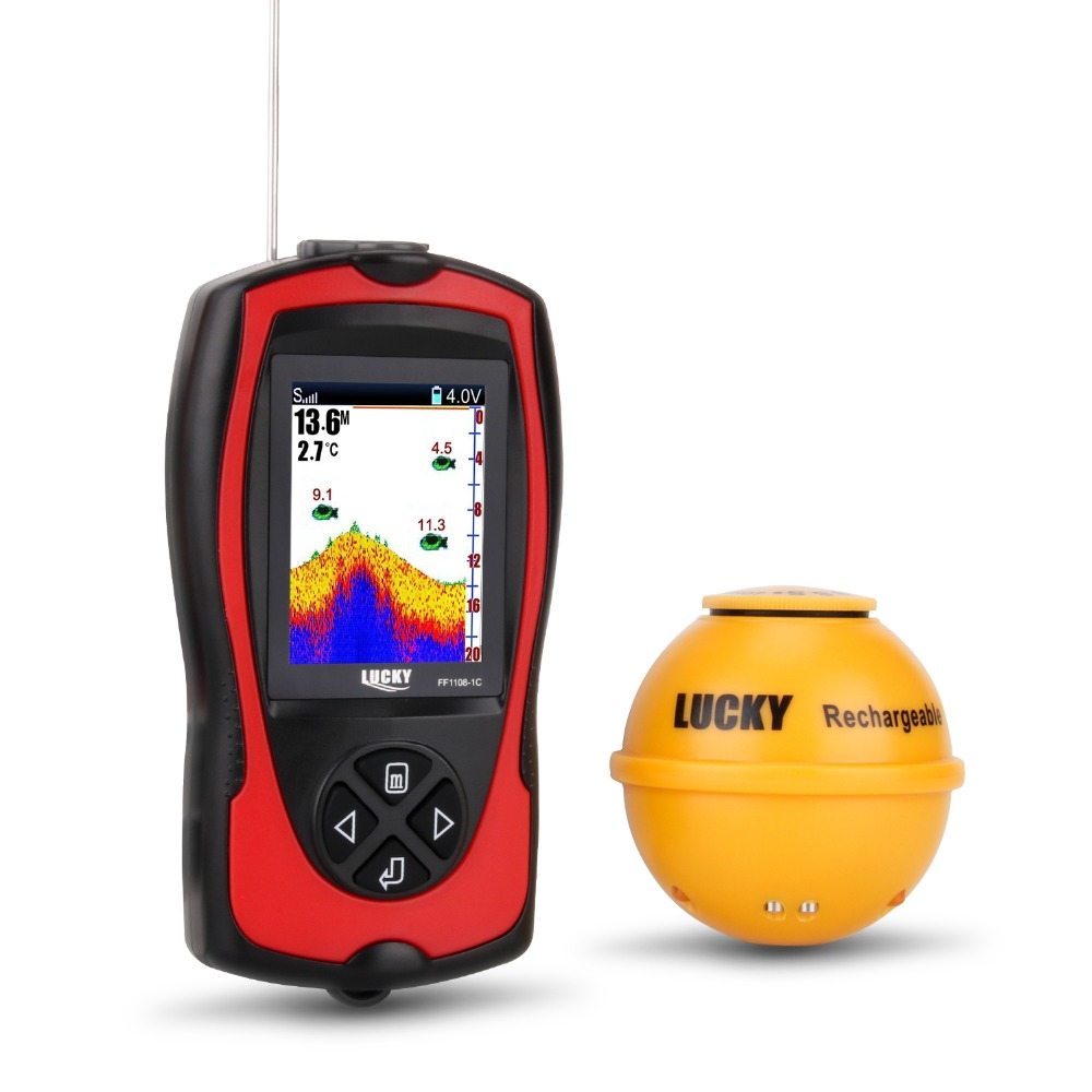 Wireless echo sonar sensor Sounder Portable fish finder Color 2.4 LCD findfish for the sea underwater monitor depth fishing (4)