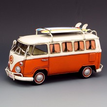 Q version antique classical cars model handmade retro buses for home/cafe/pub decoration or gifts old fashion(China)