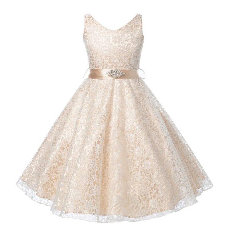 Fashion Lace Girls Dress Kids Dresses For Girls Sleeveless Wedding Dress School Children Clothing Costume Party Princess Dresses<br><br>Aliexpress