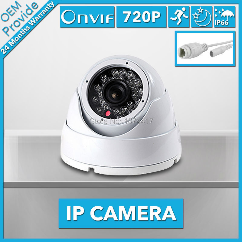 FL-W-IP2410TR-E 1.0MP 720P IP Camera Indoor Dome Camera ONVIF P2P Security System IR Cut Filter 24 IR LED  CCTV<br>