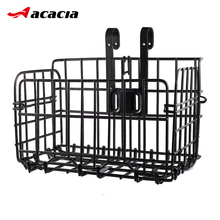 Folding Metal Wire Bicycle Front Handlebar Storage Basket Bike Cargo Rack Cycling Mountain Road Bike MTB Accessories