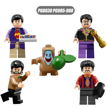 PG8030 The Beatles John Lennon George Harrison 4pcs/set TV and Movies DIY Figure  Compatible Children  Toys