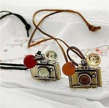 X 75 Retro fashion camera necklace charm of women necklaces and pendants hot female jewelry factory direct