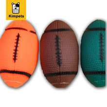 Rubber Chew Toys for Dogs Rugby Baseball Dog Toy Ball(China)