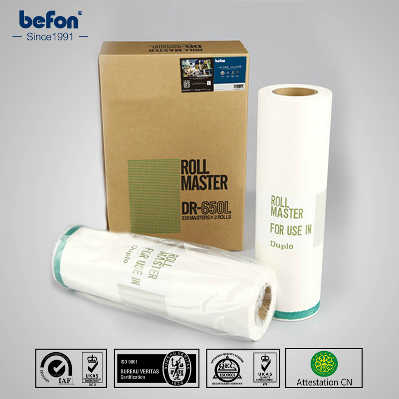 befon Master Roll DR650 650 655 A3  Compatible for DUPLO SERIES DP4030 43e 43f 43s 2 rolls/box <br>