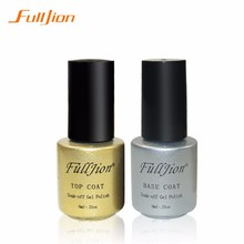 Fulljion Gel Nail Primer 6ml Top Coat Top it off + Base Coat Foundation for UV Gel Polish Best on Ali New Style Nail Lacquer