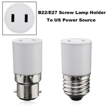 AC110-220V Lamp Base B22/E27 Socket Lamp Base Holder Converter To US Power Female Outlet Adapter Connector