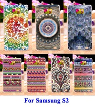 Hard Plastic and Soft TPU Cell Phone Bags For Samsung Galaxy SII I9100 S2 Cases DIY Painted Anti Knock Mobile Phone Cover Hood