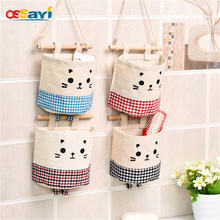Storage Bag 1PC Hanging Bathroom Kitchen Supplies Debris Space Bag Combined Creative Small Wall Hanging Behind Door Storage Bag(China)