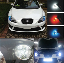 2x S25 1156 P21W BA15S LED Bulbs Daytime Running Lights DRL For Seat Alhambra,Leon Cupra,Leon(China)