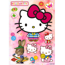 Hot 12PCS/lot Japanese cartoon hello kitty cat stickers Skateboard Suitcases Guitar Bike Laptop Vinyl PVC cute Waterproof decal(China)