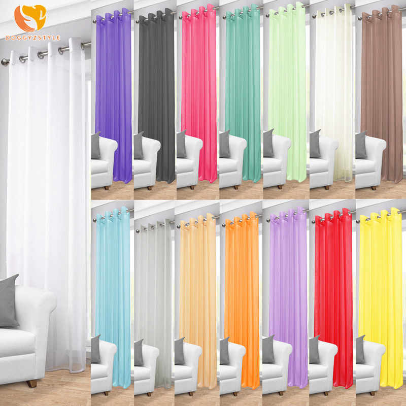 Curtains European and American Style Living Room White Window Screening Solid Door Curtains Drape Panel Sheer Tulle