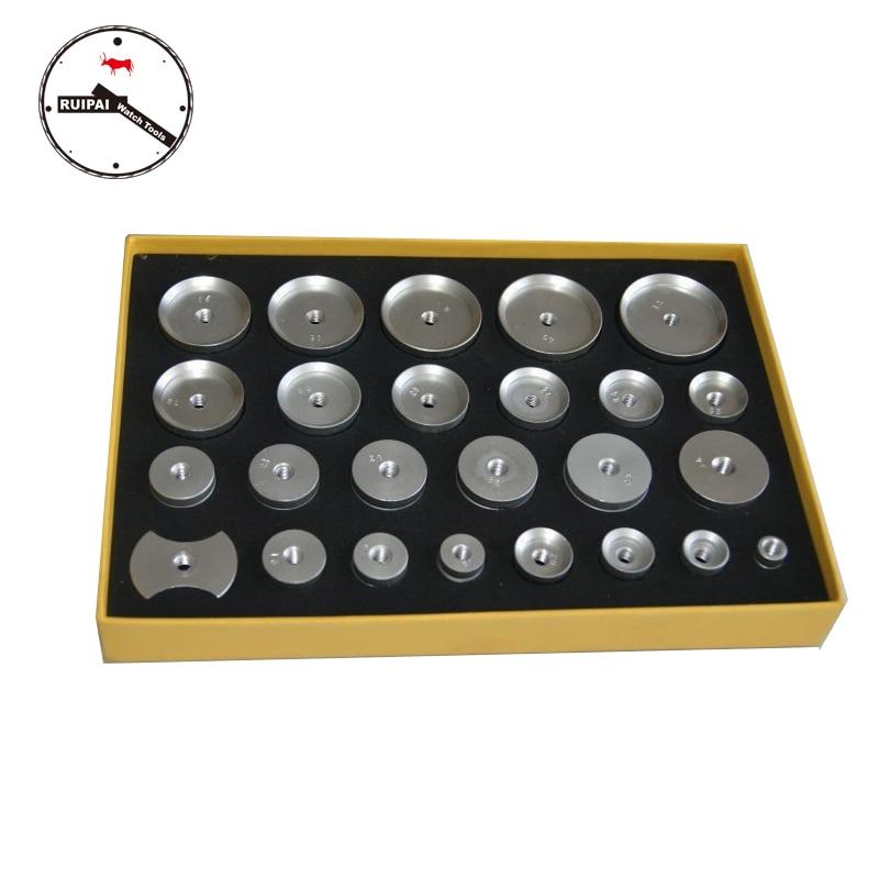 25 pcs/set Assort Size Aluminum Alloy Watch Press Dies,Watch Press Tools Accessories Aluminum Dies <br>