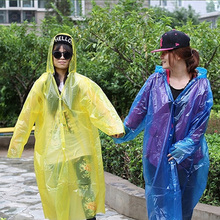 New Hot Sale Disposable Raincoat Adult Emergency Waterproof Hood Poncho Travel Camping Must Rain Coat Unisex