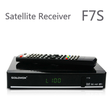 2Pcs Original Solovox F7S Satellite Receiver Support 2 USB biss Key Youporn Ccamd Newcam 3G modem(China)