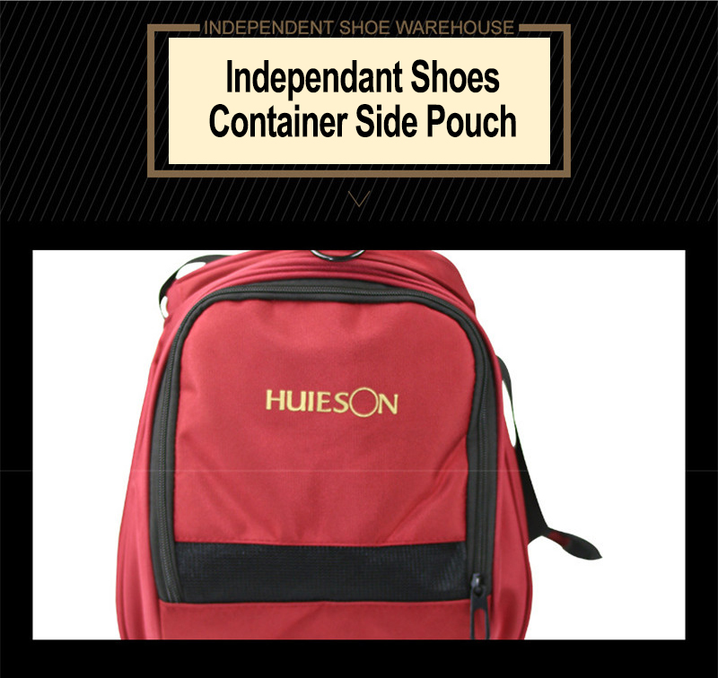 Huieson Professional Table Tennis Sport Bag Men Women Travel Bag for Table Tennis Match Training Black Red S M Hand Shoulder Bag (6)
