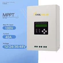 SCF-40A 40A LCD MPPT Solar Charge Controller 12V/24V/36V/48V Auto Solar Panel Battery Charge Regulator with Dual Fan Cooling
