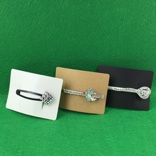 200PCS 5x7cm Hair Clip Card Paper Jewelry Display Cards Hair Accessory Cards Blank Hairpin Packaging Card Accept Custom Logo