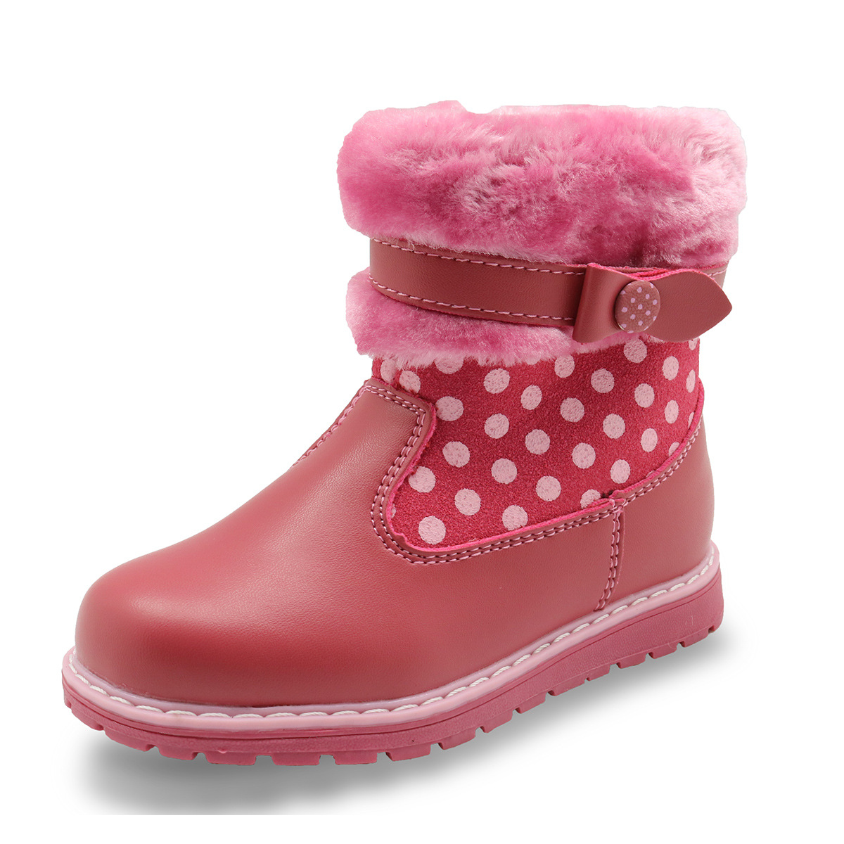 2017 New Autumn Spring Kids Girls Shoes  Fashion  Russia Speckled Girls Warm Boots Dots PU Leather Boots Kids Boots<br>