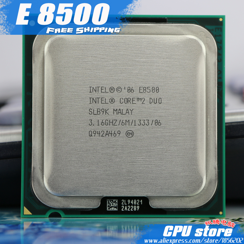 Intel CPU Processor Dual-Core-Socket E8500 775 2-Duo Working Sell 100-% title=