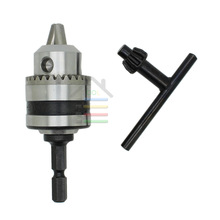 "Heavy Duty Electric Hammer Drill Chuck Capacity 0.6-6mm Thread 3/8-24UNF with 1/4""Hex Shank for Power Tools"
