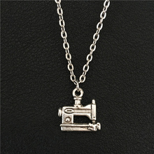 New Industrial Age Style Handmade Women Tool Gift Creative Unique Vintage Jewelry Tibetan Silver Sewing Machine Pendant Necklace(China)