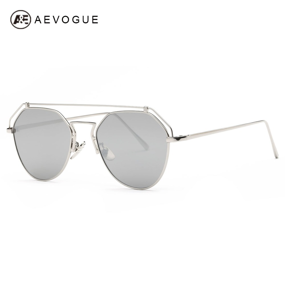 AEVOGUE Sunglasses Women Steampunk Style Brand Designer Double Girder Newest Reflective Coating Lens Sun Glasses UV400 AE0405<br><br>Aliexpress