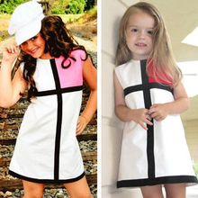 Moonlight Cute Toddler Girl Kids Easter Dress Clothes 2017 Summer New Fashion Cross Children Dresses Red Pink Girls Baby Outfits(China)