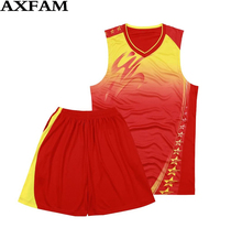 AXFAM Free Shipping Summer men's sleeveless basketball suit 6-color basketball shirt buy offer DIY digital and XL-4XL code(China)