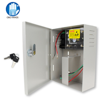 Metal DC12V/5A access control power supply box UPS  90-260VAC input back-up source/battery box for door intercom building system