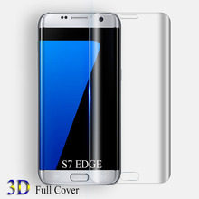 9H 3D Curved surface Tempered Glass for Samsung Galaxy S8 plus Full Cover screen protector for Samsung S7 edge S7Edge glass